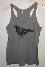 NWOT Next Level Apparel Tank with Mama Bird Print / Green / Small