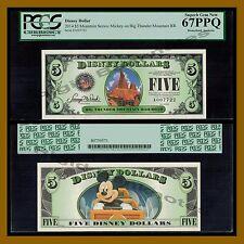 "Disney 5 Dollars, 2014 ""A"" Series Mickey on Big Thunder Mountain PCGS 67 PPQ"