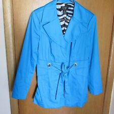 Donna Moore Spr.Jacket Turquoise Belted tie, Mod Short Coat Ring Detail Lined