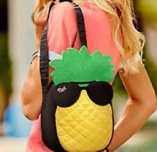 NWT Victoria's Secret PINK Pineapple Cooler Beach Tote Bag with Shoulder Strap
