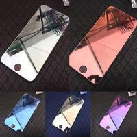3D Mirror 9H Tempered Glass Screen Protector Full Film For iPhone 5/6/7/8 Plus X