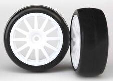 Traxxas Slick-Reifen auf Felge weiß - TRX7572
