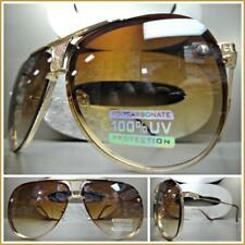Men or Women CLASSIC VINTAGE RETRO Style SUN GLASSES Rare Rose Gold Metal Frame