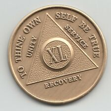 XL Years - 40 Years - Alcoholics Anonymous AA recovery medal token chip coin