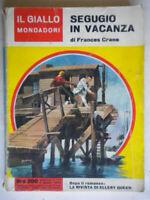 Segugio in vacanzaCrane Mondadorigiallo749romanzo Ted Spain racconto Sears