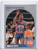 1990 NBA HOOPS BASKETBALL CARD # 111 - HOF ISIAH THOMAS - DETROIT PISTONS