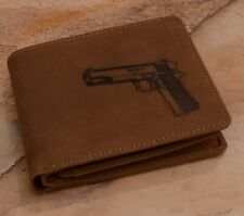Genuine Men's Leather Wallet embossed Colt 1911 :: High Quality Product