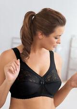 Glamorise Magic Lift Lace Style #1000 COLOR BLACK NWT