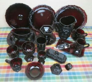 Vintage Avon 1876 Cape Cod Ruby Red Glassware ***by the piece(s)***
