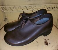 LL BEAN KEEN DARK BROWN LEATHER FULL CLOGS CASUAL SHOES 6.5 M HIPPIE
