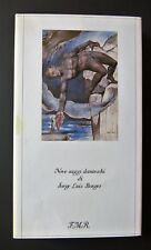 Nove saggi danteschi J. L.  BORGES 1985  F. M. Ricci NUMERATO collezione Morgana