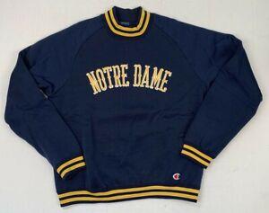 champion vintage lou holtz style notre dame irish nylon knit sweatshirt s m l