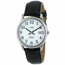 New Timex Men's T2H281 Easy Reader Date Black Leather Strap Watch