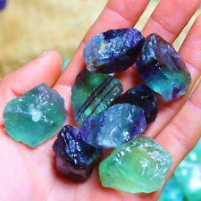 1 lbs Wholesale Rainbow Fluorite Rough Stones - Tumbling Tumbler Rocks, Reiki