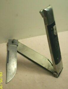 1920~NEFT SAFETY KNIFE STYLE NO. 1~IMPROVED HUNTER~FOLDING KNIFE w/ETCHED BLADE~
