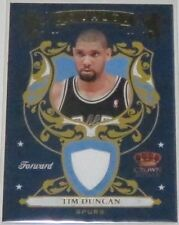 2009/10 Tim Duncan Spurs Crown Royale Royalty Panini Jersey Card Ser #230/499 NM