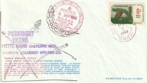1969 USA cover Private Post - Doc`s Lokal Post President Nixon visits NORAD