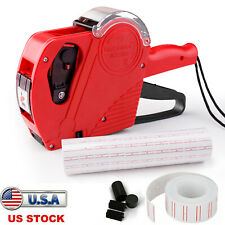 Mx 5500 8 Digits Eos Price Tag Gun 5500 White With Red Lines Sticker Labels Ink