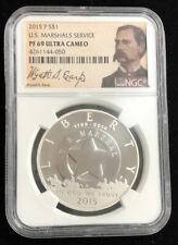 2015 P US Marshals Service Silver $1 Proof Wyatt Earp NGC PF69 ULTRA CAMEO B10L