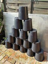 plastic buckets black 10 litre x 10 flowers bin
