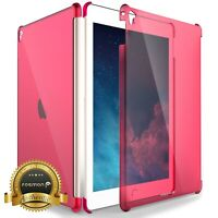 For iPad Air 2 Pro 9.7 Slim Pink Transparent Clear Case Smart Cover Compatible