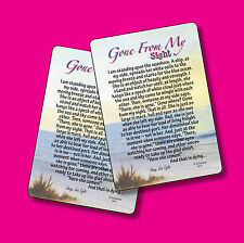 """""""Gone From My Sight"""" Memorial Poem - 2 Verse Cards - SKU# 813"""