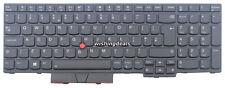 Genuine New For Lenovo IBM ThinkPad T580 UK Black Backlit Keyboard