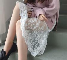 Lace Half Slip Skirt Extenders long See Through A-Line Skirts layering skirts
