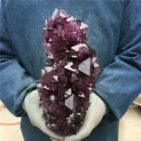 TOP!5.7-6.9LB Rare Purple Alunite Crystal Mineral Specimen Point Reiki Healing+