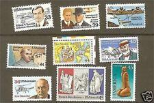 US Scott # C113 - C121 1985-89 Air Mail Set / 9 MNH