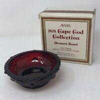 *Vintage Avon 1876 Cape Cod Collection Dessert Fruit Bowl w/Box Christmas Table