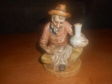 Figurine, Bearded Old Man sitting w hat, 6 inch, 1977, Home Decor,