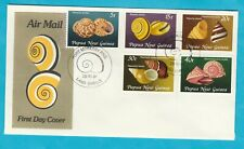 PNG FDC Land Shells Official First Day Cover 1981