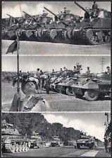 AA5657 Militaria - Carri armati - Vedute animate - Cartolina postale - Postcard