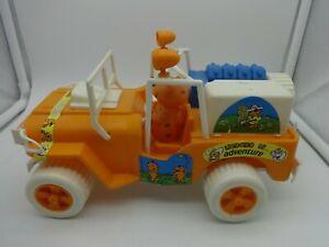 RARE Large 10 inch Plastic Orange Heathcliff Adventure Jeep  - Loose & Clean