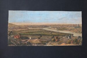 Laurie and Whittle Rare 1794 Engraving A General View of the City of Paris