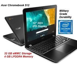"NEW Acer Chromebook 512 12"" IPS Display Intel Celeron N4020, 4GB RAM, 32GB eMMC"