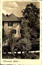 Schorndorf Bad Württemberg alte Postkarte ~1920/30 Partie am Schloss Turm Garten
