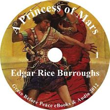 A Princess Of Mars, Edgar Rice Burroughs Sci-Fi Audiobook unabridged 1 MP3 CD