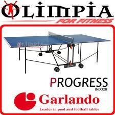 Garlando TAVOLO PING PONG (tennis tavolo) x INTERNO - PROGRESS INDOOR piano BLU
