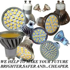 GU10  E14  MR16 / 20,24,60 / SMD & COB LED  *DIMMABLE *COLOUR  DAY & WARM  WHITE
