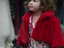 Kids CHILDRENS CHild Genuine RED MINK JACKET COAT