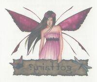 "Sexy fairy pixie Temporary Tattoo - Tribal, Gothic small size ""GOT FAIRY ?"""