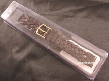 New Ladies Timex Brown Braided Western Leather 13mm Replacement Watch Band Strap
