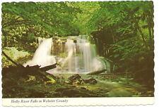 WEBSTER COUNTY WV Holly River Falls Vtg 1973 Postcard