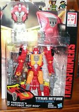 Transformers GENERATIONS titans returns HOT ROD  6 IN  DELUXE CLASS new/sealed