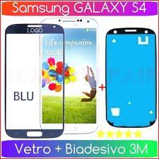 BLU Vetro Ricambio GLASS BLUE + BiADESIVO 3M x SAMSUNG GALAXY S4 SIV I9500 I9505