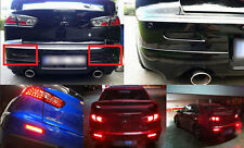 LED Bumper Reflector Smoked Lens Tail Brake Light For Mitsubishi Lancer EVO X