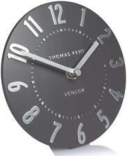 Thomas Kent - Mulberry Graphite Silver Mantel Clock