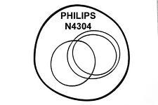 SET CINGHIE PHILIPS 4304 REGISTRATORE A BOBINE BOBINA NUOVE FRESCHE FORT N 4304